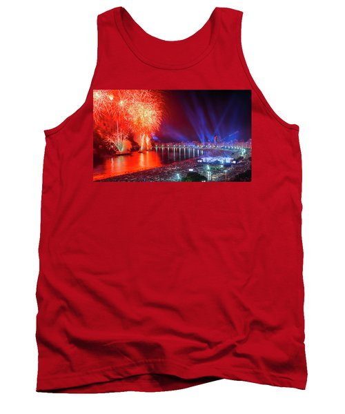 Iconic And Breath-taking Fireworks Display On Copacabana Beach,  Tank Top