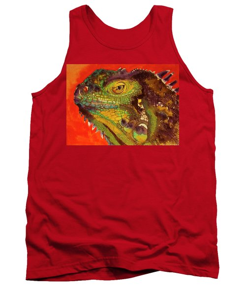 Tank Top featuring the painting Iggy by Cynthia Powell