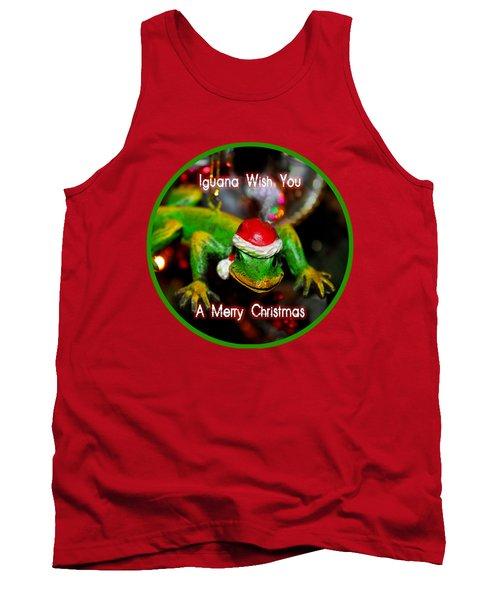 Iguana Wish You A Merry Christmas Tank Top