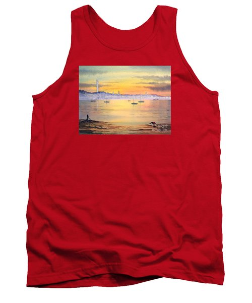 Tank Top featuring the painting Impressions Of Provincetown by Bill Holkham