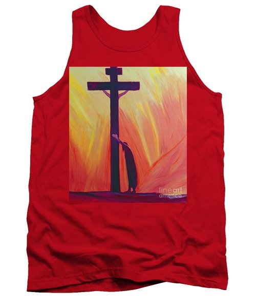 In Our Sufferings We Can Lean On The Cross By Trusting In Christ's Love Tank Top