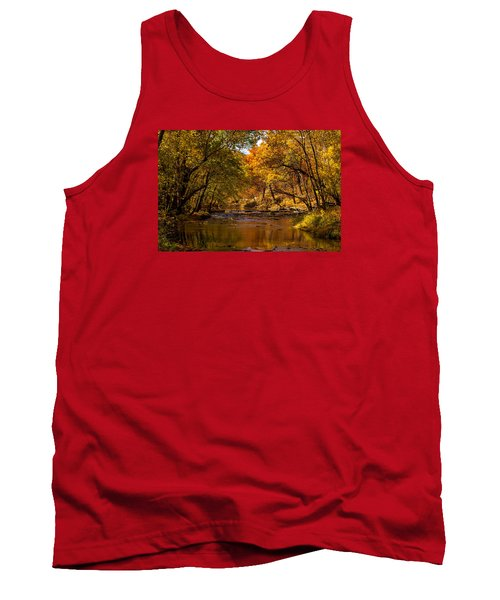 Indian Creek In Fall Color Tank Top