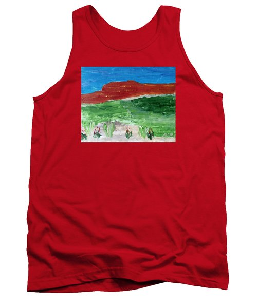 Indian Paintbrush Under A Midday Sun Tank Top by Brenda Pressnall