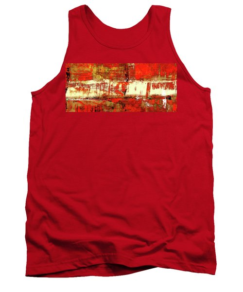 Indian Summer - Red Contemporary Abstract Tank Top by Modern Art Prints