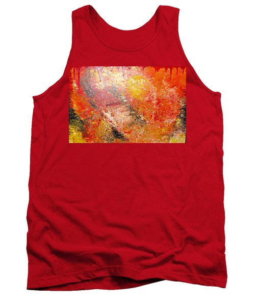 Tank Top featuring the painting Inferno by Jacqueline Athmann