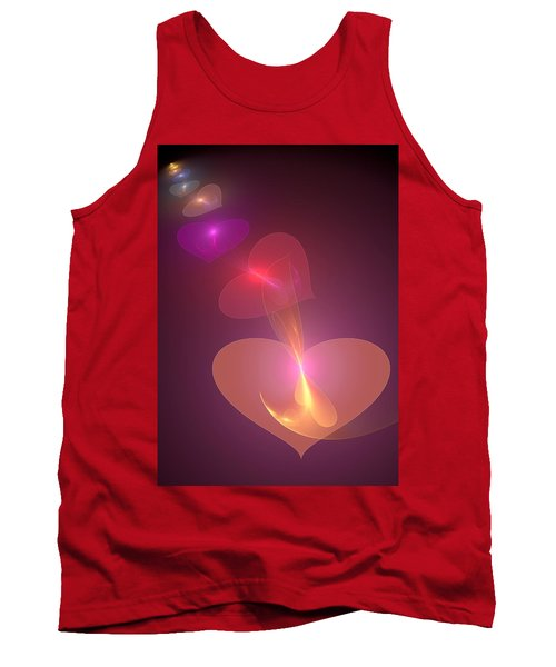 Tank Top featuring the digital art Infinite Love by Svetlana Nikolova