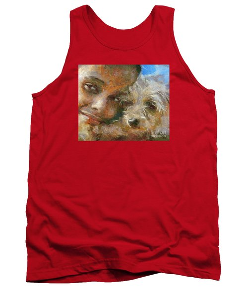 Tank Top featuring the painting Innocent Love by Dragica  Micki Fortuna