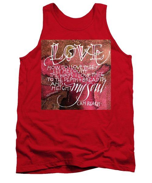 Inspirational Saying Love Tank Top