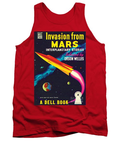 Tank Top featuring the painting Invasion From Mars by Malcolm Smith