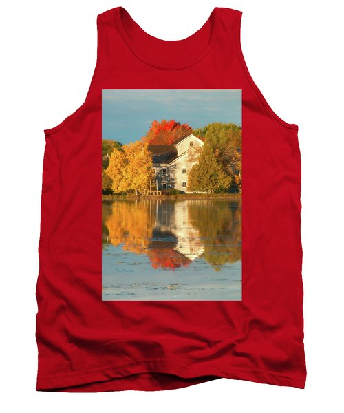 Iola Mill Fall Reflection Tank Top by Trey Foerster