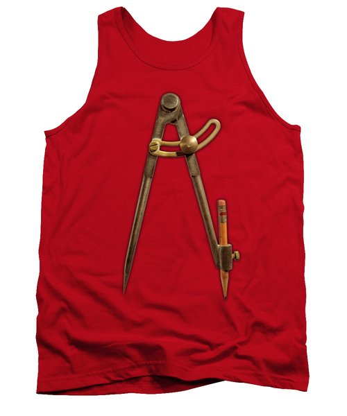 Iron Compass On Color Paper Tank Top