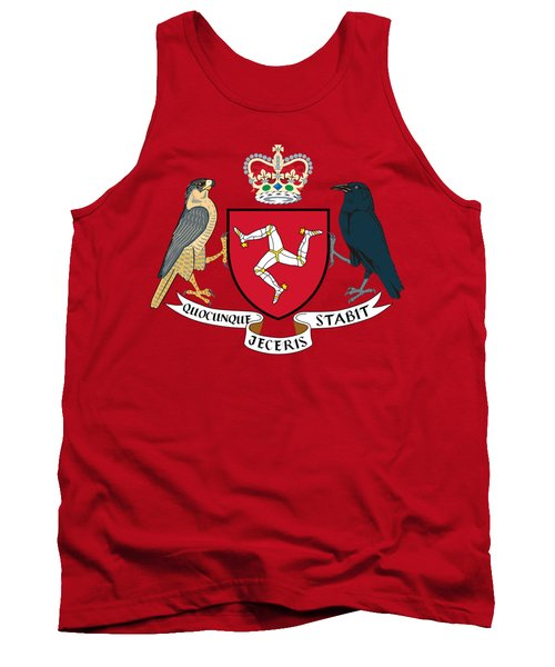 Tank Top featuring the drawing Isle Of Man Coat Of Arms by Movie Poster Prints