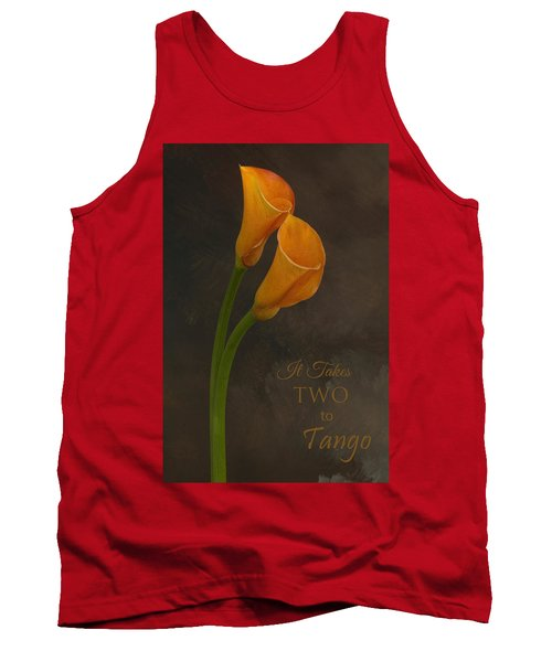 It Takes Two To Tango With Message Tank Top