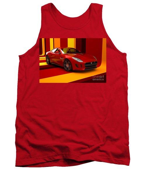 Jaguar F-type - Red Retro Tank Top
