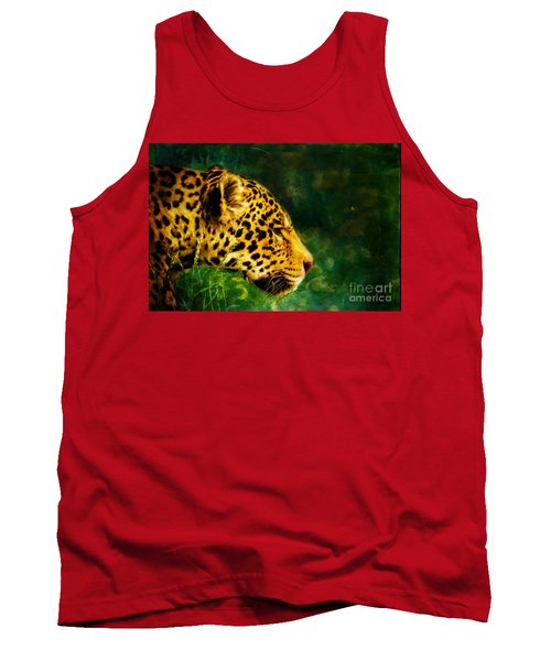 Jaguar In The Grass Tank Top