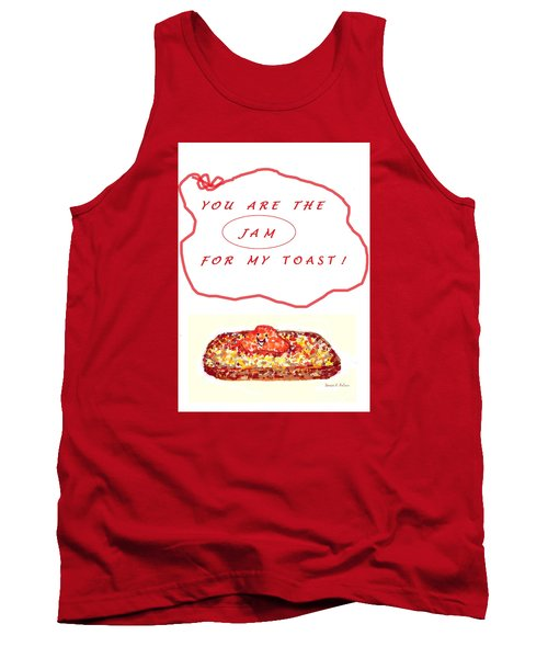Tank Top featuring the drawing Jam For My Toast by Denise Fulmer