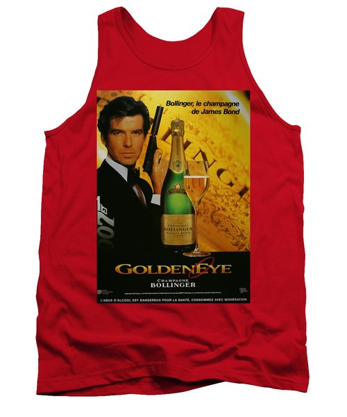 James Bond Ad 1995 Tank Top by Andrew Fare