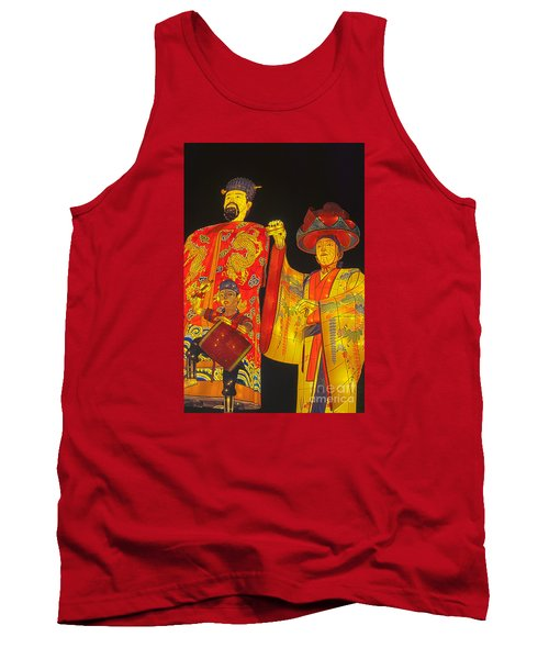 Japanese Lanterns King And His Dancers Tank Top