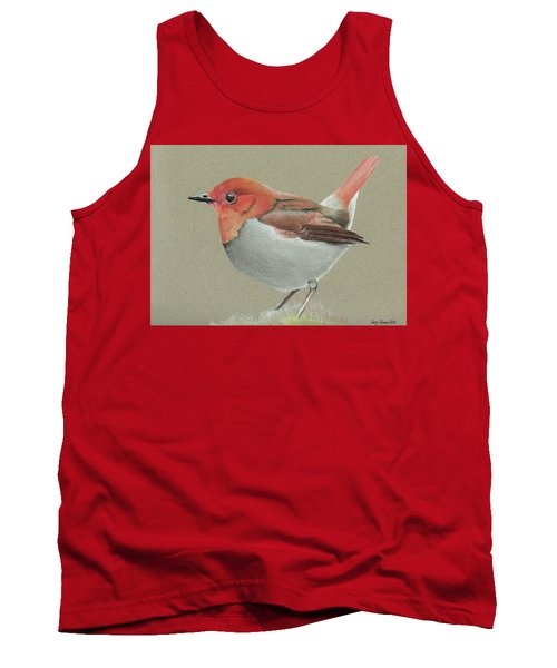 Japanese Robin Tank Top by Gary Stamp