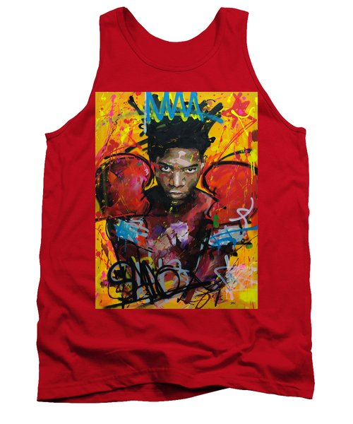 Tank Top featuring the painting Jean-michel Basquiat by Richard Day