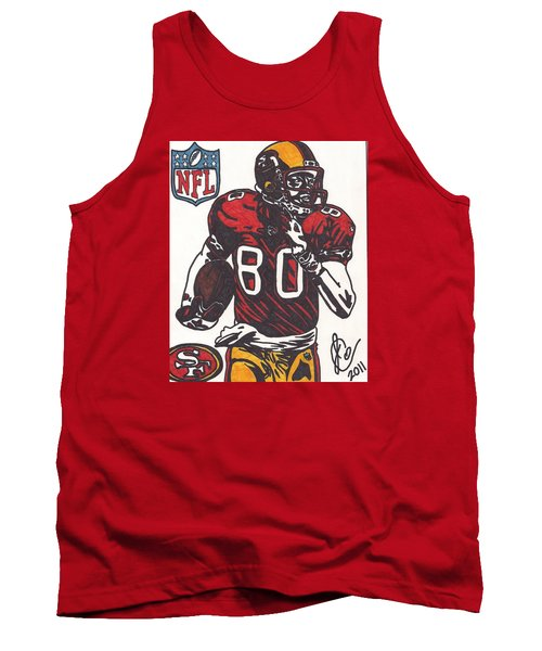 Tank Top featuring the drawing Jerry Rice by Jeremiah Colley
