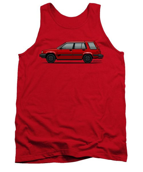 Jesse Pinkman's Crappy Red Toyota Tercel Sr5 4wd Wagon Al25 Tank Top