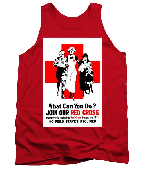 Join Our Red Cross Tank Top