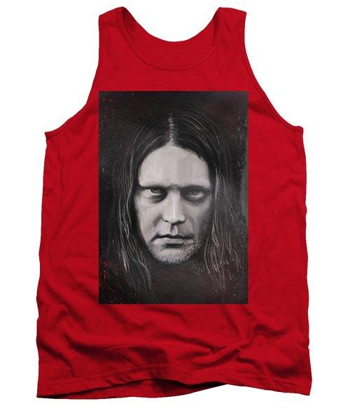 Tank Top featuring the drawing Jonas P Renkse Musician From Katatonia Band By Julia Art by Julia Art