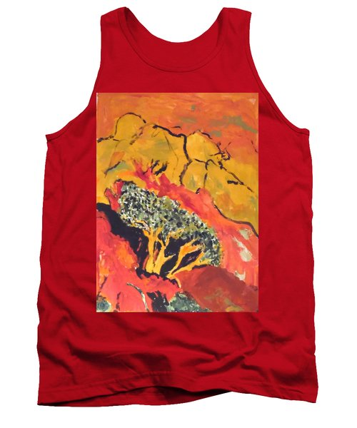 Tank Top featuring the painting Joshua Trees In The Negev by Esther Newman-Cohen