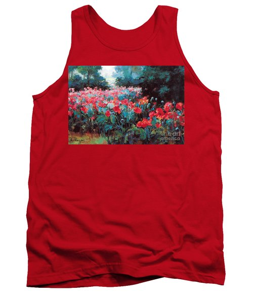 Tank Top featuring the painting Joy by Rosario Piazza