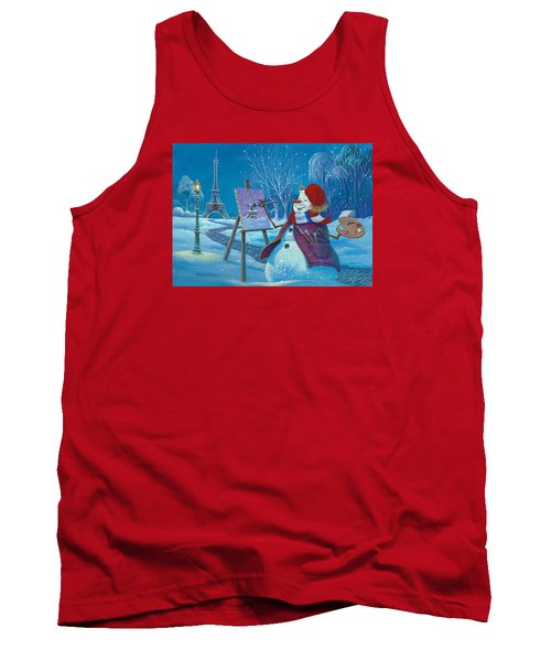 Tank Top featuring the painting Joyeux Noel by Michael Humphries