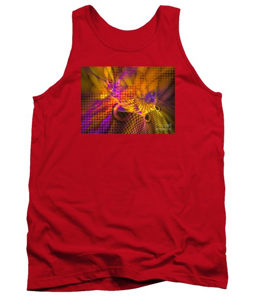 Tank Top featuring the digital art Joyride - Abstract Art by Sipo Liimatainen