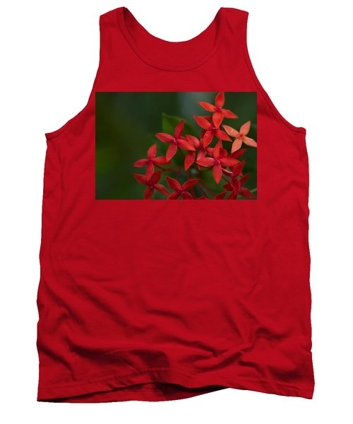 Jungle Geranium Tank Top by Marlo Horne