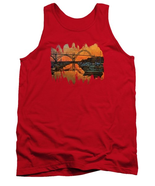 Just After Sunset On Yaquina Bay Tank Top by Thom Zehrfeld