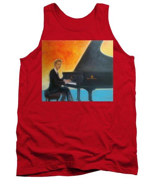 Justin Levitt At Piano Red Blue Yellow Tank Top