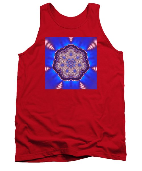 Tank Top featuring the digital art Jyoti Ahau 8 by Robert Thalmeier
