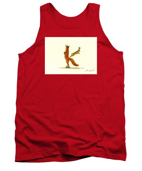 K Letter Woodland Alphabet Tank Top by Juan  Bosco