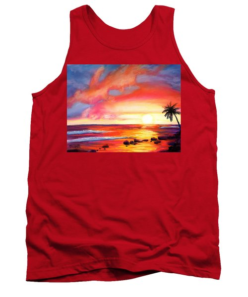Kauai West Side Sunset Tank Top by Marionette Taboniar