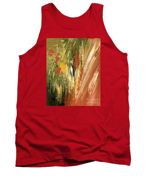 Tank Top featuring the painting Kinetic Creativity by Tatiana Iliina