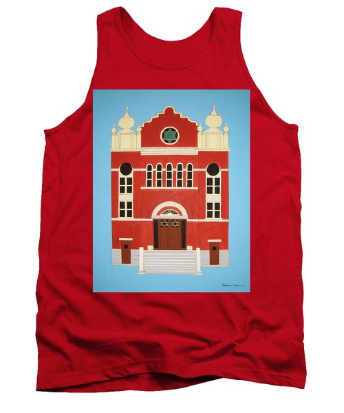 Tank Top featuring the painting King Edward Street Shul by Stephanie Moore