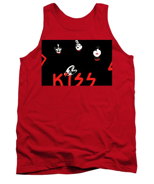 Kiss Black And Red  Tank Top