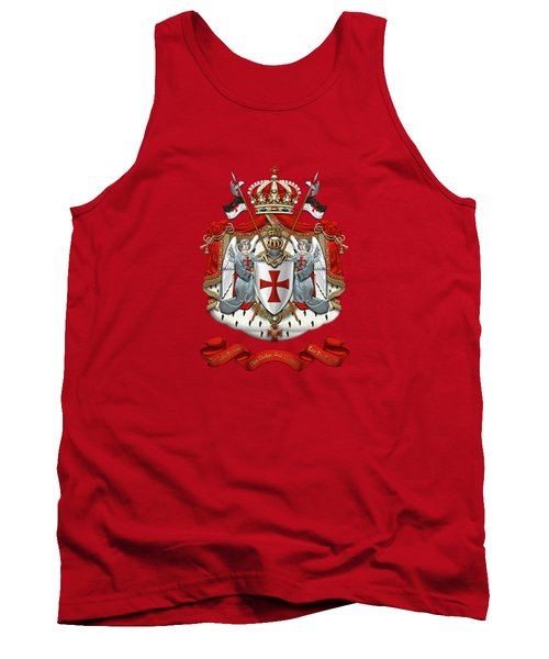 Knights Templar - Coat Of Arms Over Red Velvet Tank Top