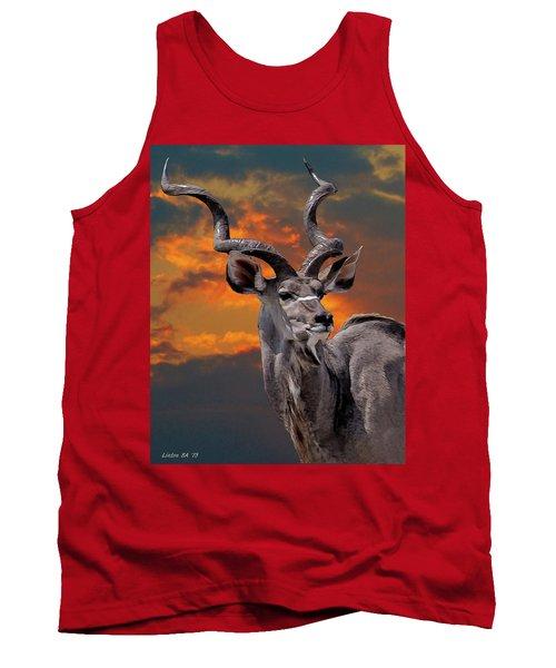Kudu At Sunset Tank Top