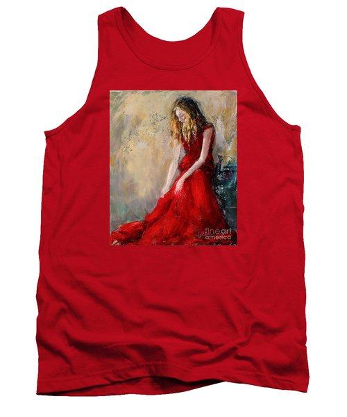Lady In Red 2 Tank Top by Jennifer Beaudet