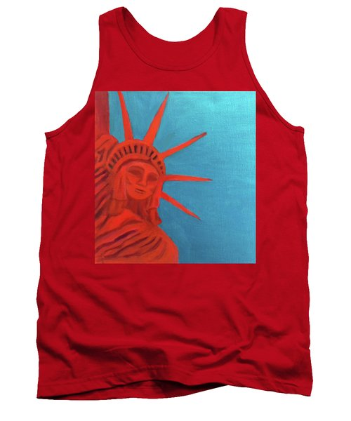 Lady Liberty Tank Top by Margaret Harmon