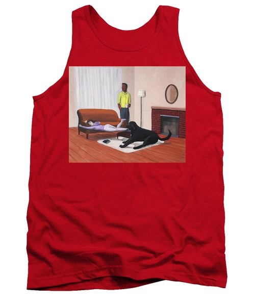 Lady Pulling Mommy Off The Couch Tank Top