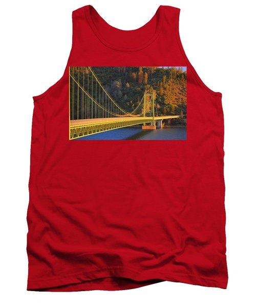 Lake Oroville Green Bridge At Sunset Tank Top