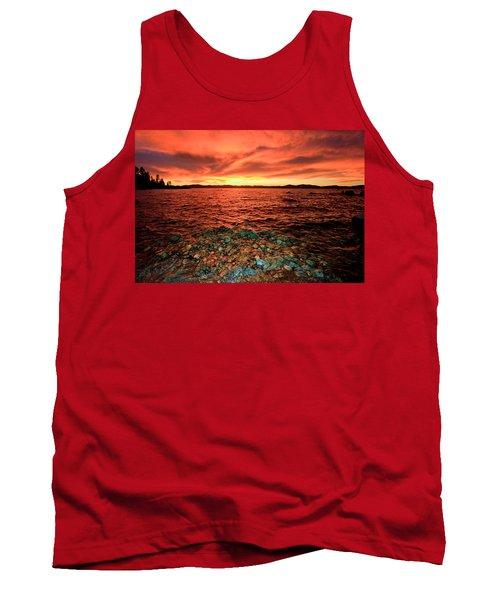 Lake Tahoe...blood Moon Sunset Tank Top