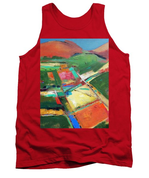 Land Patches Tank Top by Gary Coleman