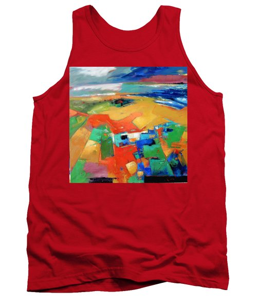 Tank Top featuring the painting Landforms, Suggestion Of A Memory by Gary Coleman